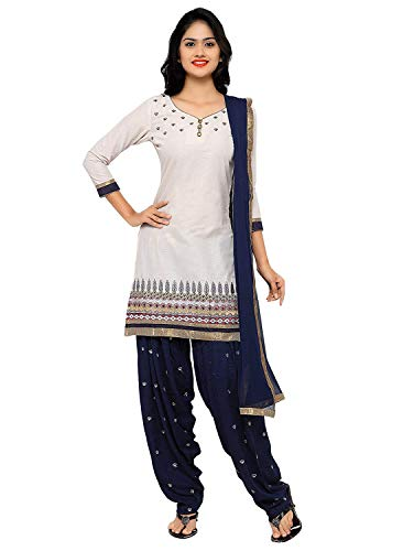 Womens Embroidered Cotton Readymade patiala Salwar kameez Dream Angel Fashion (XXX-Large-44)