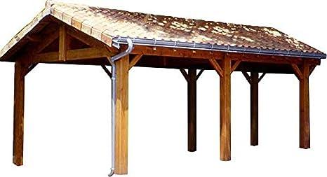 Abrigo coche madera carpintería tradicional 2 coches: Amazon.es ...