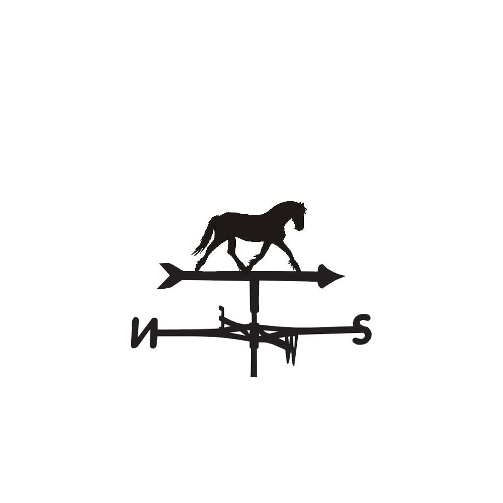 Weathervane HORSE steel weathervane with ground spike and wall fixing.