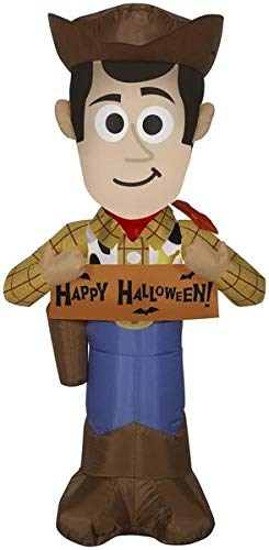 Gemmy 3.5' Airblown Woody w/Banner Disney Halloween Inflatable