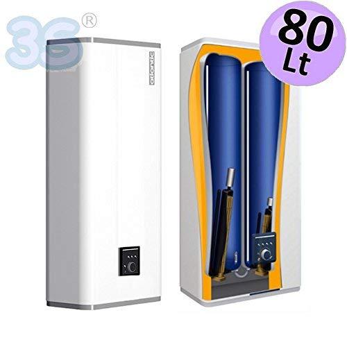 Atlantic - Vertigo - Calentador eléctrico extraplano, 80 litros, instalación vertical u horizontal: Amazon.es: Bricolaje y herramientas