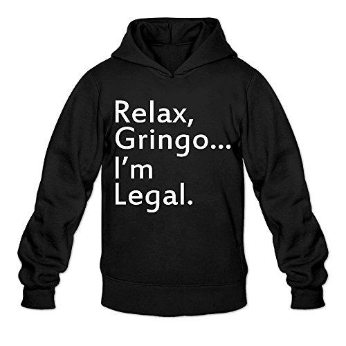 [Fennessy Men's Hooded Sweatshirt Relax, I Am Legal Size XXL Black] (Black Suit Spiderman Costume 10-12)