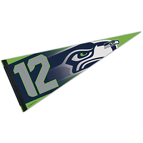 Pendant Man 12th - Wincraft Seattle Seahawks 12th Man Action Green Pennant and Banner