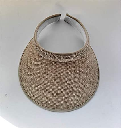 859a6e2068d91 Amazon.com  LoLa Ling Summr Women Casual Sun Visor Hat Beach Empty hat  Ladies Adjustable Nature Straw Topless Cap  Kitchen   Dining
