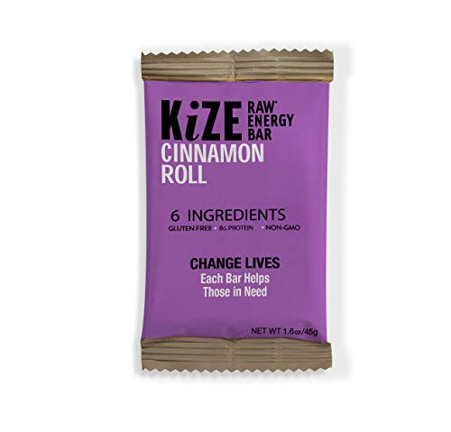 KiZE - (10 Pack) Raw Energy Bars - Cinnamon Roll - Non GMO, Gluten Free, No Added Sugar, Bulletproof (Best Cinnamon Roll E Juice)