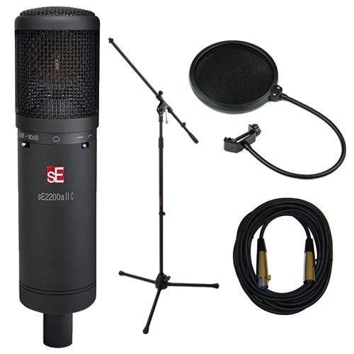 sE Electronics 2200a II Cardioid Condenser Microphone with Vocal Microphone Accessory Bundle - Essential by SE Electronics