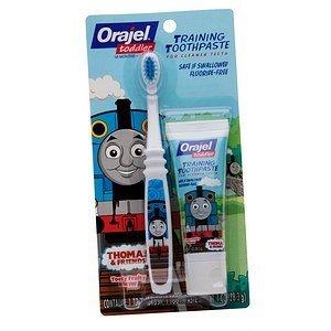 Orajel Toddler Thomas & Friends formation Tooty Fruité dentifrice et brosses à dents