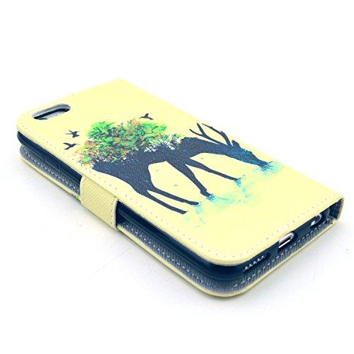 "MOONCASE iPhone 6 Case Leder Tasche Flip Case Cover Schutzhülle Etui Hülle Schale für iPhone 6 (4.7"")"