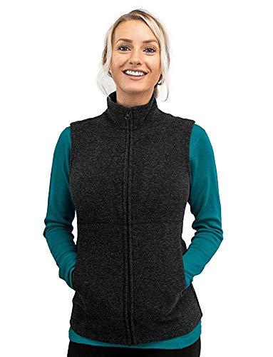 (Woolx Women's Marcy Heavyweight Merino Wool Vest, Carbon Black,)