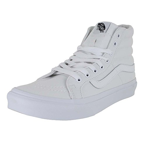 e0bb6492919 Galleon - Vans SK8-Hi Slim Skate Shoe - Women s (Canvas) True White ...
