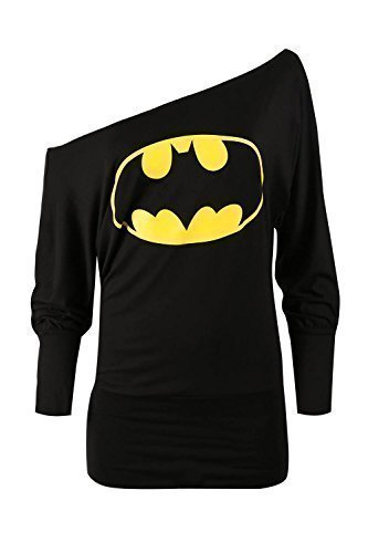 Women's Superman Batman Comic Hero Off Shoulder Slouch Top