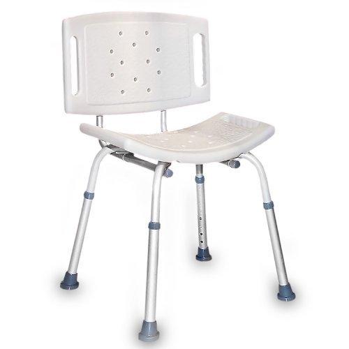 Ausilio sedia da doccia per anziani disabili altezza regolabile