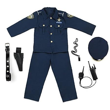 Disfraz de polic/ía Deluxe 12-14 a/ños Dress up America Talla L 201-L