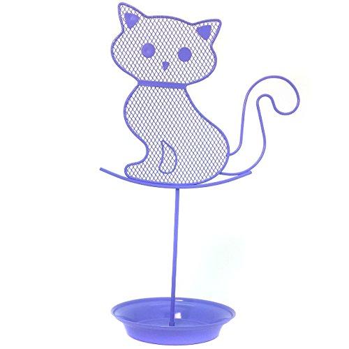 Cute Cat Jewelry Organizer  Purple Earring Jewelry Stand  Lavender Dresser Top Jewelry Organizer for Teens  Earring Holder