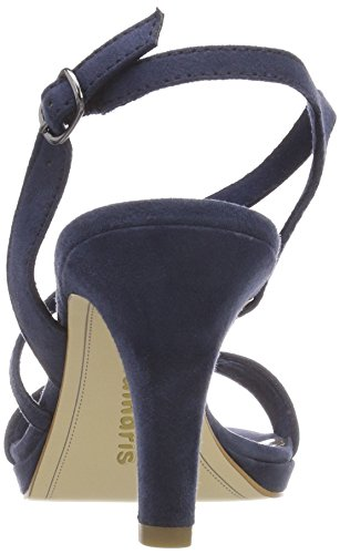 Tamaris 28318, Sandalias con Correa de Tobillo Para Mujer Azul (Navy)