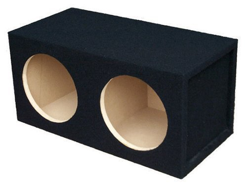 Sealed Logo Enclosure - Absolute USA DSS10 Dual 10-Inch, 3/4-Inch MDF Sealed Subwoofer Enclosure with Absolute USA Logo