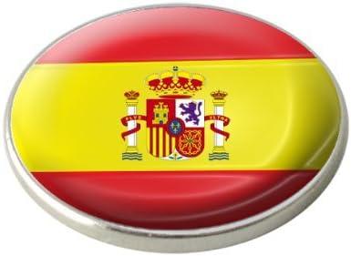 Asbri España Bandera Nacional Marcador de Pelota de Golf.: Amazon.es: Deportes y aire libre