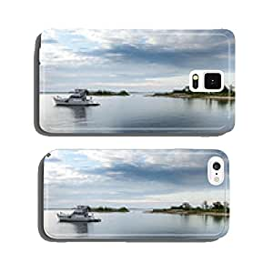 Boat in the sea, Georgian Bay, Tobermory, Ontario, Canada cell phone cover case Samsung S6