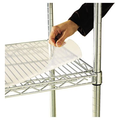 (Alera ALESW59SL4818 Shelf Liners for Wire Shelving, Clear Plastic, 48w x 18d (Pack of 4) )