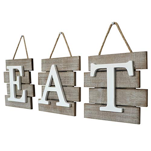 """Barnyard Designs Eat Sign Wall Decor for Kitchen and Home, Distressed Natural, Rustic Farmhouse Country Decorative Wall Art 24'' x 8"""" by Barnyard Designs (Image #4)"""
