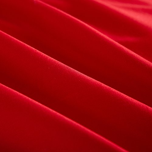 DHWM-Cotton embroidered wedding 4 piece, wedding linen and cotton red a bed of ,2.0m