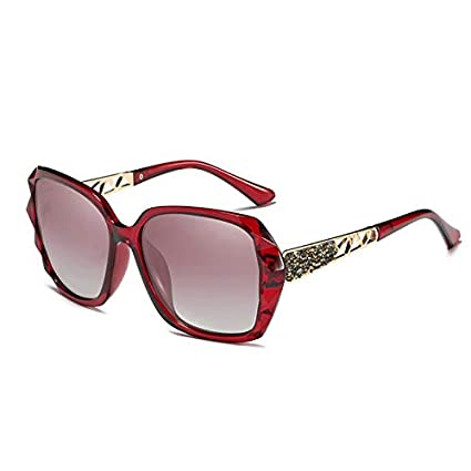 Sunglasses- Gafas de Sol polarizadas Estrella de Alta definición de Las Mujeres con el Conductor