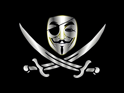 Guy Fawkes Mask Pirate V for Vendetta Anonymous Art 24x18 Print Poster
