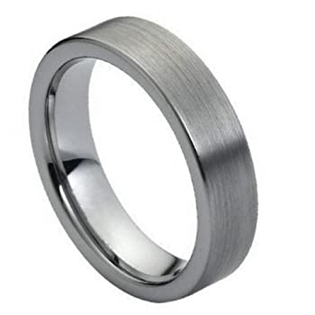 Brushed Pipe Cut Ring-6mm Wedding Band, Anniversary Band, Eternity Style, Bridal