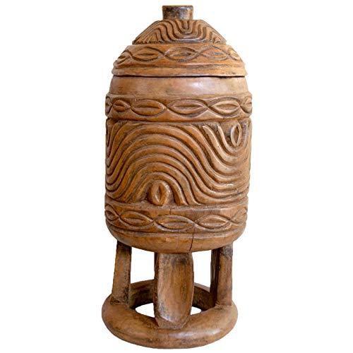 Zeal Living Authentic Bamileke Lidded Storage Vessel - Large, ()