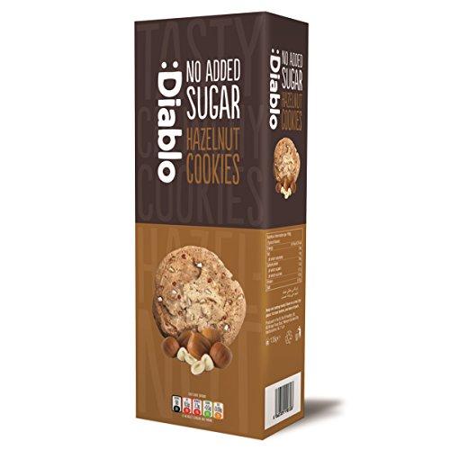 Hazelnut Cookies Biscuits – No Added Sugar Free Diablo 135g (Pack of 12)