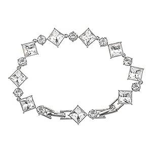 Oliver Weber Women's Rhodium Graceful Crystal Bracelet