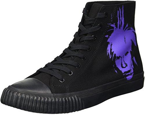Iconic Warhol Calvin Black Men's 1 Klein Sneaker Purple Print Canvas qwIZEI