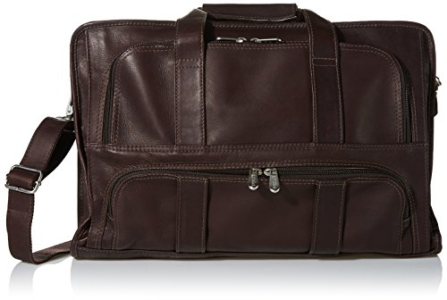 Piel Leather Half-Moon Portfolio, Chocolate, One Size by Piel Leather