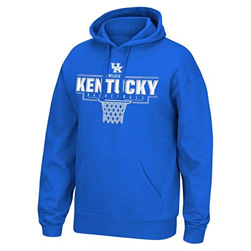 Basketball Hooded (Elite Fan Shop University of Kentucky Wildcats Hooded Sweatshirt Basketball Blue - M)