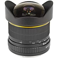 Bower SLY358AE Ultra-Wide 8mm f/3.5 Fisheye Lens for Nikon AE Digital Cameras