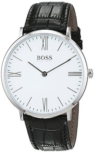 - Hugo Boss Jackson White Dial Leather Strap Men's Watch 1513370