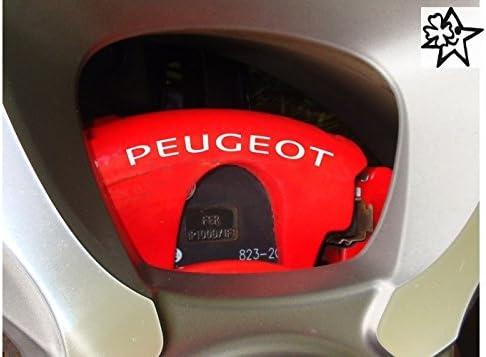 Myrockshirt Peugeot Sport 4 X Bremsenaufkleber Bremsen Aufkleber Bremssattel Hitzebeständig Decals Stickers Estrellina Glücksstern Auto