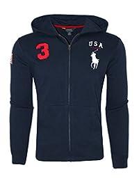 Polo Ralph Lauren Youth Kids Boys Sweatshirt Full Zip Hoodie Big Pony