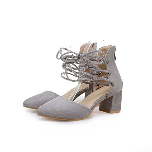 signore appuntito i sandali high dei sandali moda heeled grandi sandali sandali dimensioni UUrqT