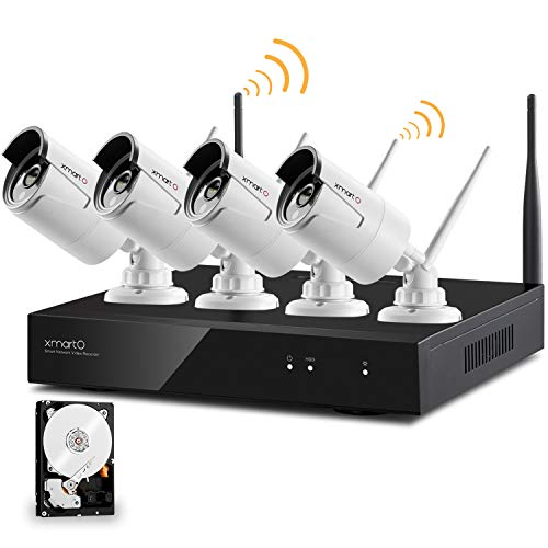 xmartO AUTO-PAIR 4CH 1080p HD Wireless NVR Surveillance Sys