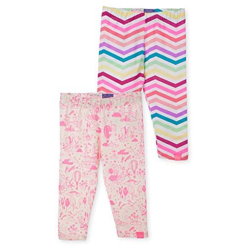 Price comparison product image OFFCORSS Baby Girls Newborn Colored Capri Patterned Cotton Leggings Summer Clothes Ropa de Bebe Niña Recien Nacida 2 Pack Set Kit 18 Months