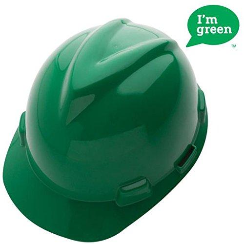 MSA Environmentally Green V-Gard Cap Style Hardhats-green