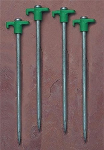 PDQ Packed 9 in. Steel Tent Stakes, 100 Units by Texsport (Stake Unit)