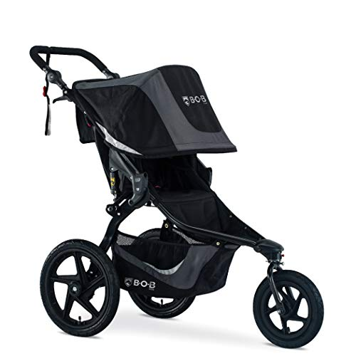 Best Buy! BOB Gear Revolution Flex 3.0 Jogging Stroller in Graphite Black | Smooth Ride Suspension + Easy Fold + Adjustable Handlebar [New Logo]