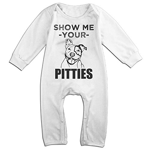 Infant Baby's Funny Pitbull Long Sleeve Romper Climb Clothes 6 M (Pit Stop Girl Halloween Costume)