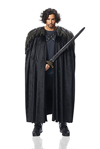 Costume Culture Men's Big Medieval Cape Adult Deluxe, Black, Standard]()