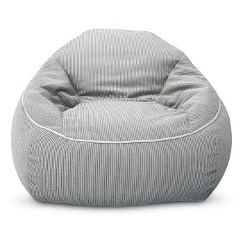 XL Corduroy Bean Bag Chair Gray