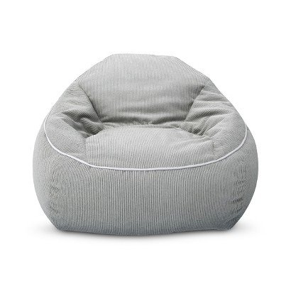 XL Corduroy Bean Bag Chair Gray by Pillowfort