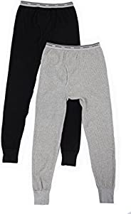 Fruit of the Loom Men's 2 Pack Classic Midweight Waffle Thermal Bott