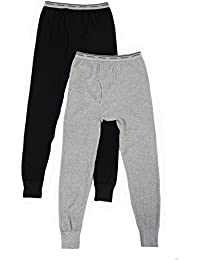 Men's Classics Midweight Waffle Thermal Underwear Bottoms (1 & 2 Packs)